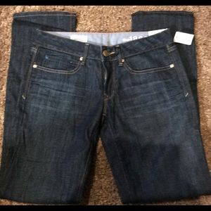 New Gap Real Straight Jeans Size 26/2A NWT
